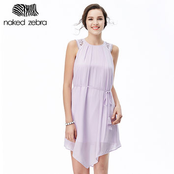 Naked Zebra Dress Women Summer Clothes Robe Pure Color Designer Evening Party Office Sexy Dress Womens Clothing Short Dress