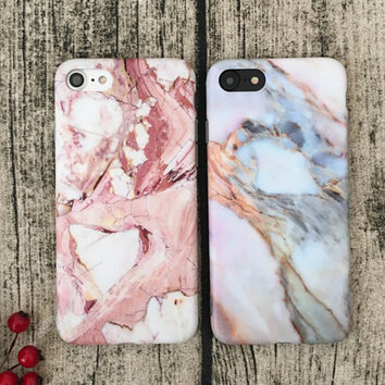 Vintage Marble iPhone 7 7Plus & iPhone se 5s 6 6 Plus Case Best Protection Cover +Gift Box-516