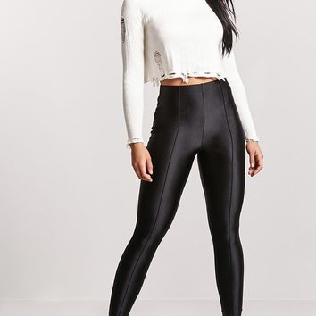 Pintuck High-Waist Leggings