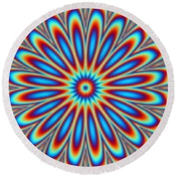 Optical Illusion Image 1 - Round Beach Towel