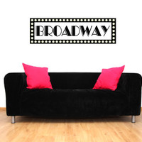 Broadway New York Sign Vinyl Wall Decal Sticker Graphic