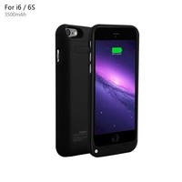 """YHhao 3500mAh Charger Case for iPhone 6 / 6s Slim Extended Battery Case Portable Cell Phone Battery Charger Back up Power Bank Rechargeable Charger Case with Stand 4.7"""" for iPhone 6/6s - Black"""