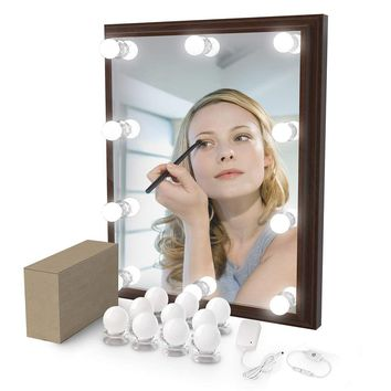 10W Bathroom Mirror Light Luminaria Vanity Light Hollywood Makeup Mirror Lights For Table Mirror Decor Christmas New Year Gifts