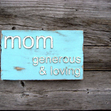 Mothers Day Gift - Mothers Day Personalized - Mother's Day Sign - Gift for Mom - Gift for Mom Birthday - Shabby Chic Home