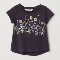 Jersey Top with Appliqués - from H&M