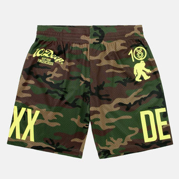 10Deep | Bottoms | 10.DEEP x Fingercroxx Mesh Shorts - Woodland