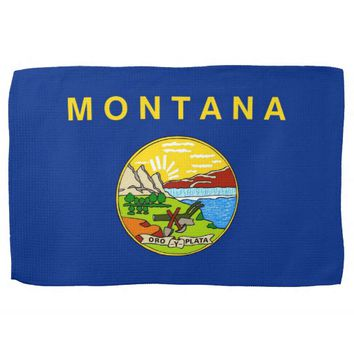 Kitchen towel with Flag of Montana, U.S.A.