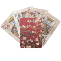 Almond Blossoms Red Vincent van Gogh Art Painting Bicycle Playing Cards