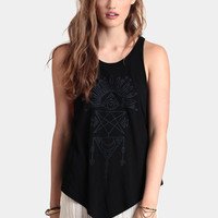Necessary Graphic Tank In Geometric Aztec By Knot Sisters