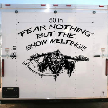 Fear Racing Trailer Decal- Vinyl Decal - Car Decal -Trailer Sticker - Custom Text Decal - GR94
