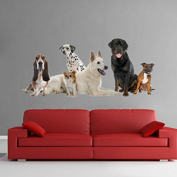dogs wall Decals dogs wall decor dogs Full Color wall Decals Animals wall Decals veterinary clinic decor Home Decor for kids room cik2237