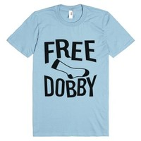 Free Dobby Value Tee-Unisex Light Blue T-Shirt