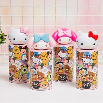 4 Pcs Cartoon Hello Kitty My Melody Home Table Restaurant Pressed Toothpick Holder Girl Fruit Food Toothpick Box