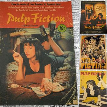 Pulp Fiction / Classic Movie Poster retro Kraft / Bar Cafe decorative posters vintage 30*21cm