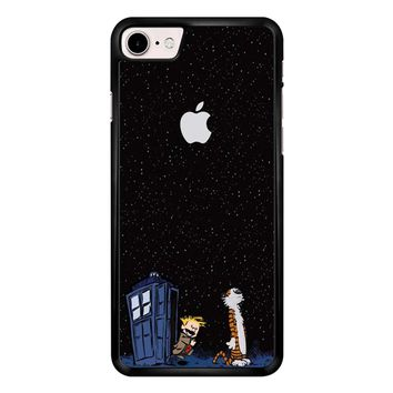 Calvin And Hobbes Apple Tardis iPhone 7 Case