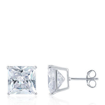 Belk & Co. Cubic Zirconia Stud Earrings in Sterling Silver