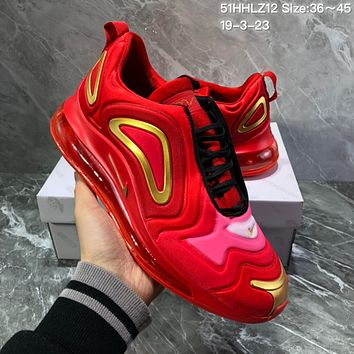 DCCK2 N1131 Nike Air Max 720 Inne Eye 2019 Fashion Comfortable Running Shoes Red Gold