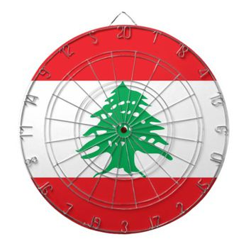 Dartboard with Flag of Lebanon