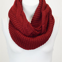 Essential Infinity Scarf - Wine