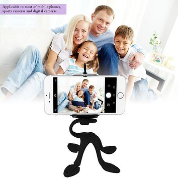 Powstro Mini Tripod Mount Holder  Universal Octopus Shape Portabable Phone Tablet  Stand Multifunctional Stand Clip Bracket