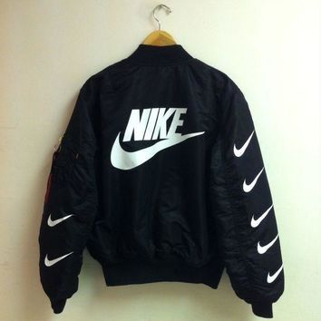 ESBUF3 Nike x Alpha Industries MA-1 Trending Bomber Jacket G