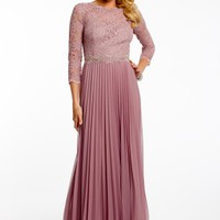 Glitter Lace Pleated Dress