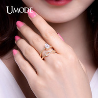 UMODE Romantic 1.25ct Pear Cut Zirconia Engagement Rings White / Rose / Gold Color Jewelry for Women Anel Feminino UR0367