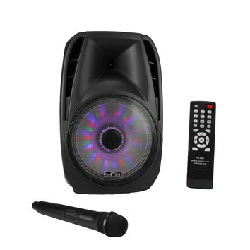 beFree Sound 15 Inch Bluetooth Tailgate Speaker with Sound/Volume Reactive Lights