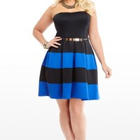Plus Size Annabel Colorblock Dress | Fashion To Figure