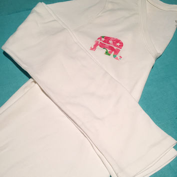 Long Sleeve Republican Elephant Lilly Pulitzer Top