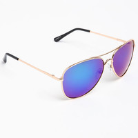 METALLIC AVAITOR SUNGLASSES