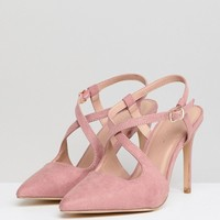 New Look Cross Strap Pointed Court at asos.com