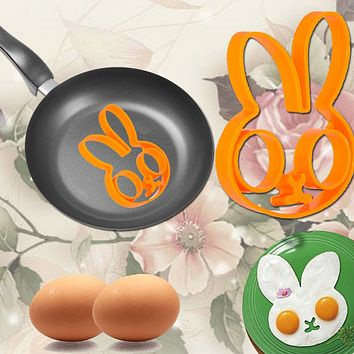 Hot Fashion Breakfast Silicone Rabbit Love Smile Star Fried Egg Mold Pancake Ring Shaper Cooking Tools Kitchen Gadgets Kid Gift