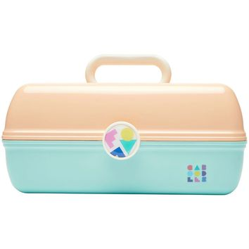 Peach + Seafoam Two Tone Retro On-The-Go Girl™ Caboodle