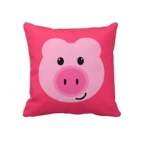 Cute Pink Pig Pillow from Zazzle.com