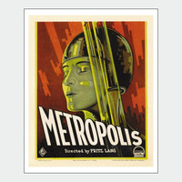 Metropolis Directed By Fritz Lang Vintage Movie Poster Print