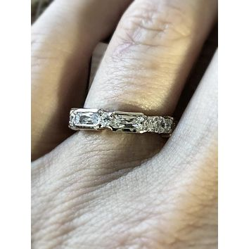 A Perfect 3.9TCW Russian Lab Diamond Full Eternity Ring