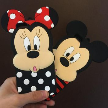 Lovely cartoon silicone mobile phone case for iPhone X 7 7plus 8 8plus iPhone6 6s plus -171123