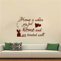 Wall Decals Home Quote Decal Vinyl Sticker Heart  Decal Home Decor Bedroom Dorm Living Room MN 146