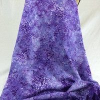 Hand Dyed Indonesian Batik Fabric--Made in Indonesian--Lavender Harmony--Lavender and White Butterfly Wings--Batik Fabric by the HALF YARD