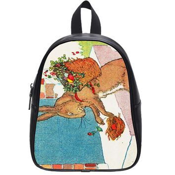 Bunny And Flowers School Backpack Large