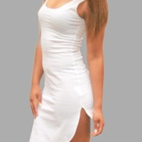 White Sleeveless Mini Dress