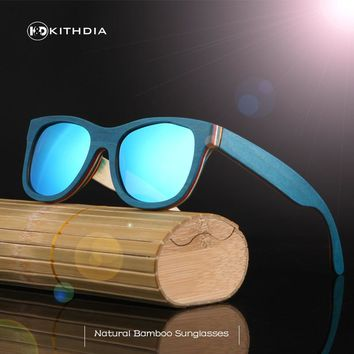 KITHDIA Fashion Polarized Eyewear Items Sunglasses Bamboo Wooden Holders Sunglasses for Driving Men Women with Wooden Gift Box