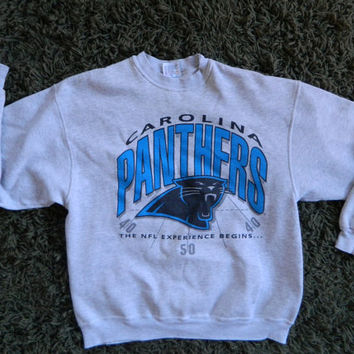 Carolina Panthers 1993 NFL soft vintage sweatshirt - grey size large/XL