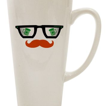 St. Patrick's Day Beer Glasses Design 16 Ounce Conical Latte Coffee Mug by TooLoud