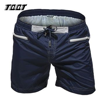Shorts men zipper cargo shorts board short print short male elastic waist fitness short navy