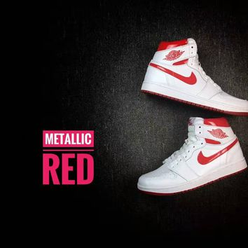 Air Jordan 1 Retro High OG Metallic Red Men's Sneaker US7-13