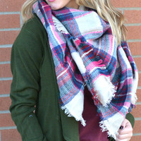 Stay For A While Scarf - Pink