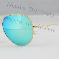 Pilot Flash Lenses sun glass Metal Classic Retro Men's Women Polarized Sunglasses
