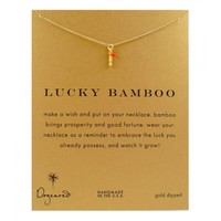 Dogeared Gold Lucky Bamboo Necklace | Aquaruby Jewellery